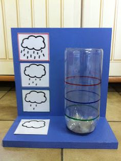 Miss Laura: design and painting picture case + weather case. Diy For Kids, Crafts For Kids, Weather And Climate, Water Cycle, Singing In The Rain, Preschool Themes, Spring Activities, Science For Kids, Pictures To Paint