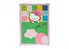 Hello Kitty bed spread 100 x 140 cm. Organic cotton. Sweet dreams. Available online at Ilva.