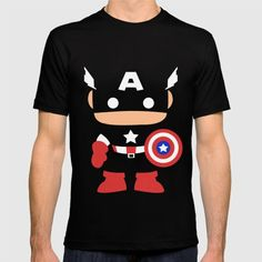 Captain America - American Apparel T-shirts are made with 100% fine jersey cotton combed for softness and comfort. (Athletic Grey and Athletic Blue contain 50% polyester / 25% cotton / 25% rayon)
