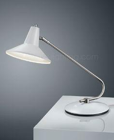 Baulmann Leuchten Led Table Lamp White Brushed Brass Finish 14 247