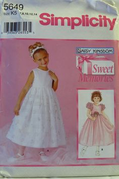 Simplicity 5649 Child's and Girls' Dress