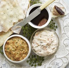 Smoked Salmon Mousse, Creamed Spinach Dip & Chicken Liver Pate ...