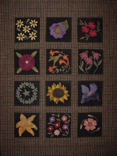 A Hummingbird's Garden - Primitive Gatherings - wool applique