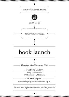 Book launch invitation design book launch pinterest book book launch stopboris Gallery