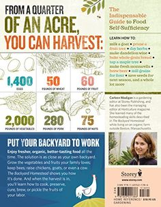 The Backyard Homestead: Produce all the food you need on just a quarter acre!: Carleen Madigan: 9781603421386: Amazon.com: Books