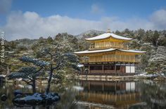 Kyoto, Japan - Golden Pavilion Covered in Snow, UNESCO World Heritage Site | by Akiko Morita