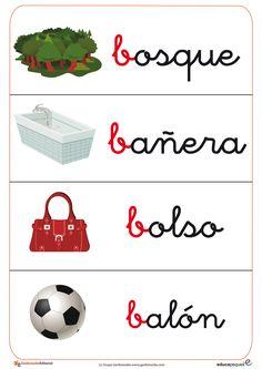 Fichas de vocabulario. Repasa el vocabulario con imágenes para los más peques. Una manera entretenida y sencilla de ampliar el