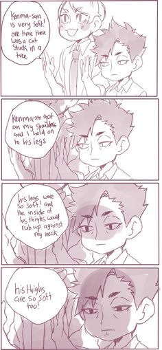 #Haikyuu comic Lev & Kuroo (Twitter: mookie000)