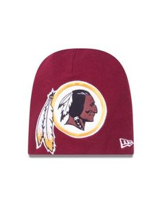 NFL Washington Redskins Big One Two Cuffless Knit Cap by New Era. $17.99. This New Era NFL Fall 2012 Collection Big One Two Knit features an embroidered Washington Redskins team logo at front, a stitched New Era flag at wearer's left side and the NFL Shield embroidered on the back.