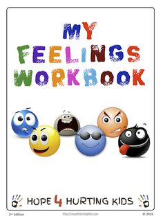 The My Feelings Workbook from Hope 4 Hurting Kids covers 50 different emotions that children or teens will likely face at some point during their youth or adolescence.