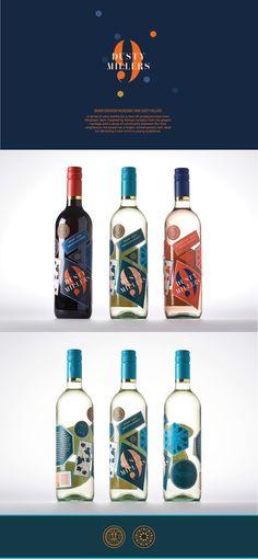 Nine Dusty Millers Wine Packaging on Behance