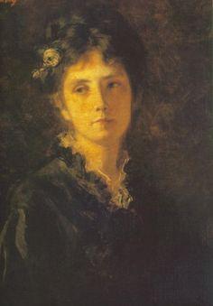 Székely, Bertalan - Miss Mesterházy - Academic Art - Oil on canvas - Portrait - Hungarian National Gallery - Budapest, Hungary