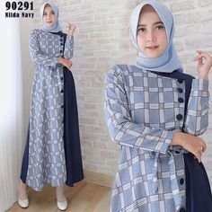 Batik Fashion, Abaya Fashion, Fashion Dresses, Islamic Fashion, Muslim Fashion, Dress Batik Kombinasi, Batik Muslim, Muslim Dress, Batik Dress