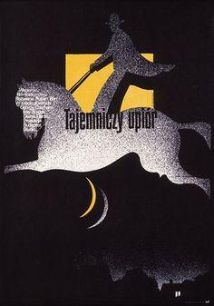 Mieczysław Wasilewski 'Tajemniczy upiór/The Phantom on Horseback' - Polish Poster, 1977