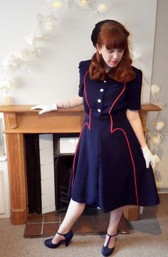 My version of Vogue 9217. A 1939 design made up for the Big Vintage Sew-along | Sew for Victory