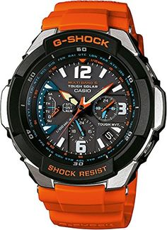 Casio G-Shock Funk – Reloj analógico de caballero de cuarzo con correa de resina roja (alarma, solar, alarma, cronómetro) – sumergible a 200 metros | Your #1 Source for Watches and Accessories