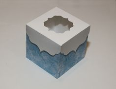 Box with decorative lid template