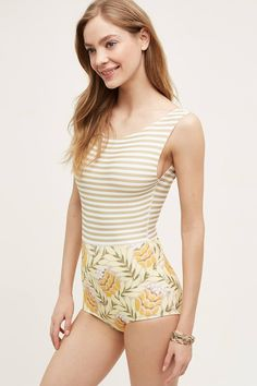 Anthropologie Seea Lido one piece swimsuit