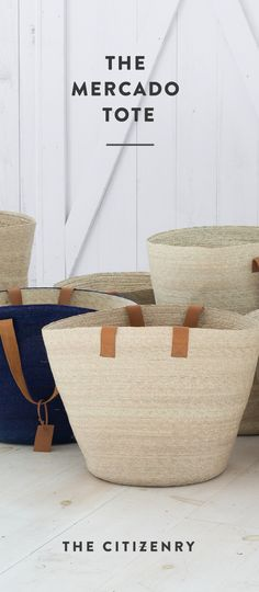Braided with palm leaves from Southern Mexico and topped with soft leather handles, this tote is light and flexible, yet durable.  We designed this to be an entryway storage basket that can be grabbed on the go. Bring it along for your trips to the beach or the market - it's the perfect catch-all for your daily adventures. Or, if you want to keep it close to home, use it to store towels, blankets, and toys.