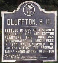 Historic Bluffton SC, settled in 1825 as a summer resort for planters.