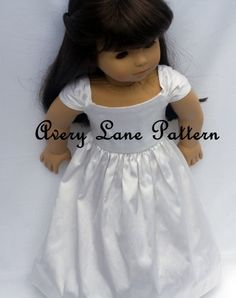 """18 inch doll Clothes Sewing Pattern NEW Ella Dress 18"""" doll clothing Sewing Pattern PDF Pattern instant download"""
