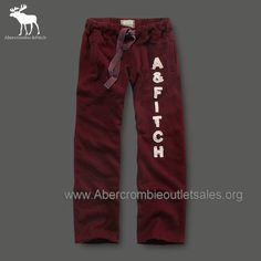 Abercrombie | Abercrombie and Fitch Sweatpants Men Classic Red Sale in Abercrombie ...