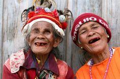 Rode tanden in Batad, Filipijnen.