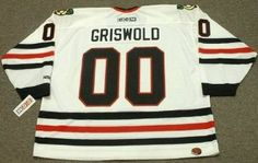 CLARK GRISWOLD Christmas Vacation Chicago Blackhawks CCM White Hockey Jersey   94b6d5377