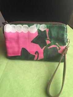 Rosa verde cuero elegante Clutch y suave Ivy rPrWOqn