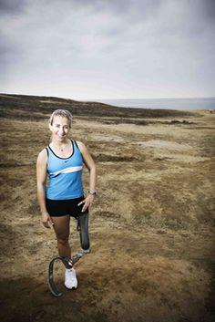 Amazing amputee #Ironman athlete Sarah Reinertsen