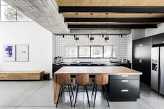 #kitchen | A Modern, Monochromatic House in Nir Am, Israel - Design Milk
