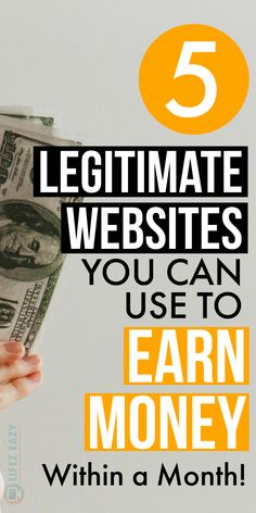 Find out Legitimate ways to make money online using these 5 websites. Using them, you can easily make extra money every month from home. The post Legitimate Ways to Make Money Online Using These 5 Websites appeared first on Mason Makes Money. Make Money Now, Ways To Earn Money, Earn Money From Home, Earn Money Online, Make Money Blogging, Online Jobs, Money Tips, Money Saving Tips, Quick Money