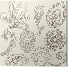Henna Doodle Paisley Design Elements royalty-free henna doodle paisley design elements stock vector art & more images of abstract Paisley Doodle, Henna Doodle, Paisley Art, Paisley Design, Henna Art, Paisley Pattern, Henna Mehndi, Mehendi, Paisley Drawing