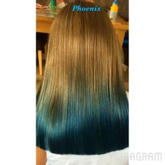 Blue hair blue ombré  Bright hair funky hair Color Melting, Bright Hair, Funky Hairstyles, Blue Ombre, Blue Hair, Tie Dye Skirt, Phoenix, Long Hair Styles, Videos