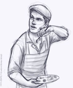 """My attempt at a sketch portrait of Jack Kelly from Newsies. Jeremy Jordan's face is harder to draw than you think..."""