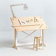 Thomas Houha DesignsMiniature Drafting Table Model Kit $24.00