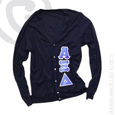 ALPHA XI DELTA CUSTOM GROUP ORDER ON CLASSIC NAVY AND BLUE SEWN ON CARDIGANS!! AXID! GSG! GETSOMEGREEK!