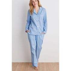 cc9ff1e3d2 Baldwin Womens 100% Cotton Jacquard Pajama Set - Bay Blue Womens Pyjama Sets,  The