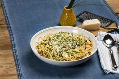 Spaghetti med soltørkede tomater og cottage cheese
