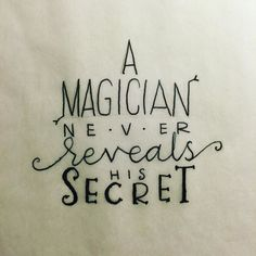 #handlettering #lettering #calligraphy #magic