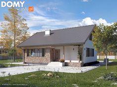 Projekt domu Mak 3 - wizualizacja frontowa