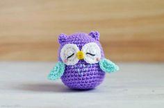 Free Mr Murasaki sleeping owl amigurumi pattern by amiguruMEI