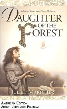 Beautiful rretelling of an ancient Irish Celtic mythology. This is book 1 in the Sevenwaters Series and each novel is a gem!