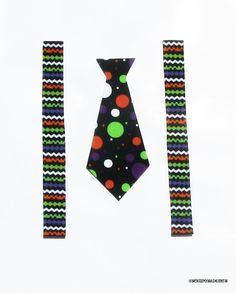 Halloween Tie & Suspenders...Fabric Iron On Appliques by onceuponadesign.etsy.com $6.00