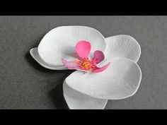 How To Make Pretty Foam Paper Orchids - DIY Crafts Tutorial - Guidecentral - YouTube