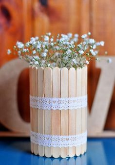 Unfinished Wood Popsicle Sticks - Popsicle Sticks and Fan Sticks - Wood Crafts - Hobby - Craft Supplies Popsicle Crafts, Craft Stick Crafts, Diy And Crafts, Crafts For Kids, Diy Projects With Popsicle Sticks, Handmade Crafts, Deco Floral, Wedding Decorations, Table Decorations