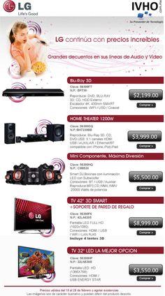 ¡LG continua con precios increíbles e IVHO continua con envío gratis!