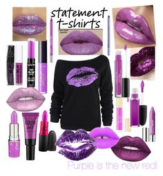 """Purple Lips"" by dobesht ❤ liked on Polyvore featuring Clinique, Milani, tarte, Maybelline, Obsessive Compulsive Cosmetics, Laura Geller, MAC Cosmetics, NYX, Lime Crime and Urban Decay"