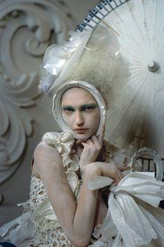 Sasha Pivovarova photographed by Tim Walker for British Vogue March 2010