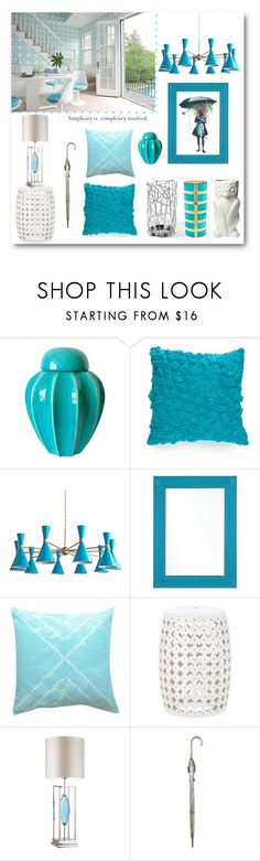 """""""Spring Rain ...."""" by loveartrecyclekardstock ❤ liked on Polyvore featuring interior, interiors, interior design, home, home decor, interior decorating, New Directions, Canopy Designs, Trina Turk and Mirror Image Home"""